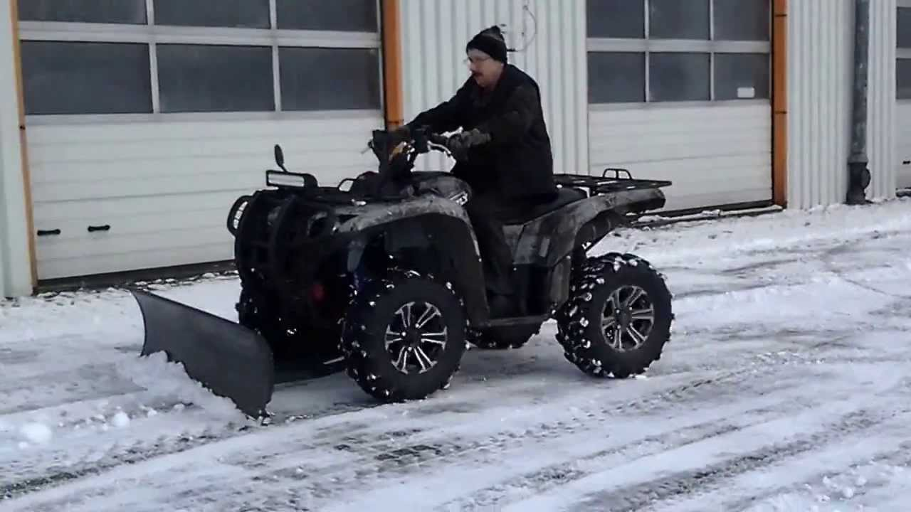 yamaha grizzly 700 odsniezanie snow plow youtube