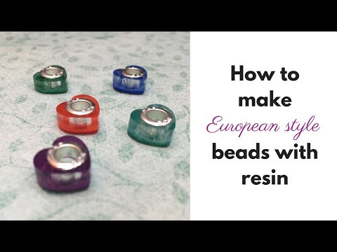 How to use resin to make European style beads