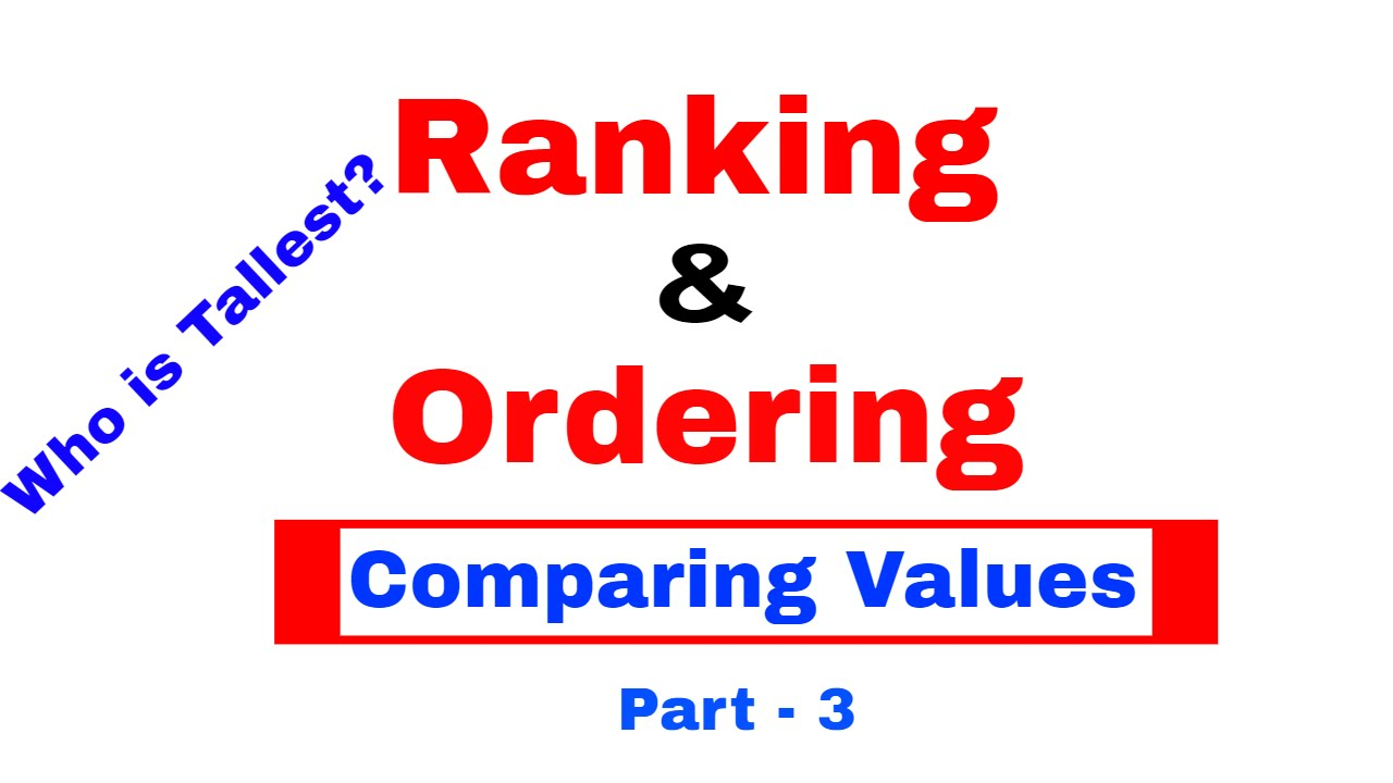 r01 ranking ordering In this paper we discuss a multilinear generalization of the best rank-r approximation problem for matrices, namely, the approximation of a given higher-order tensor, in an optimal leastsquares sense.