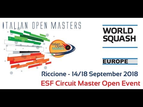 2018 - Squash - Italian Open Masters - Finals Day