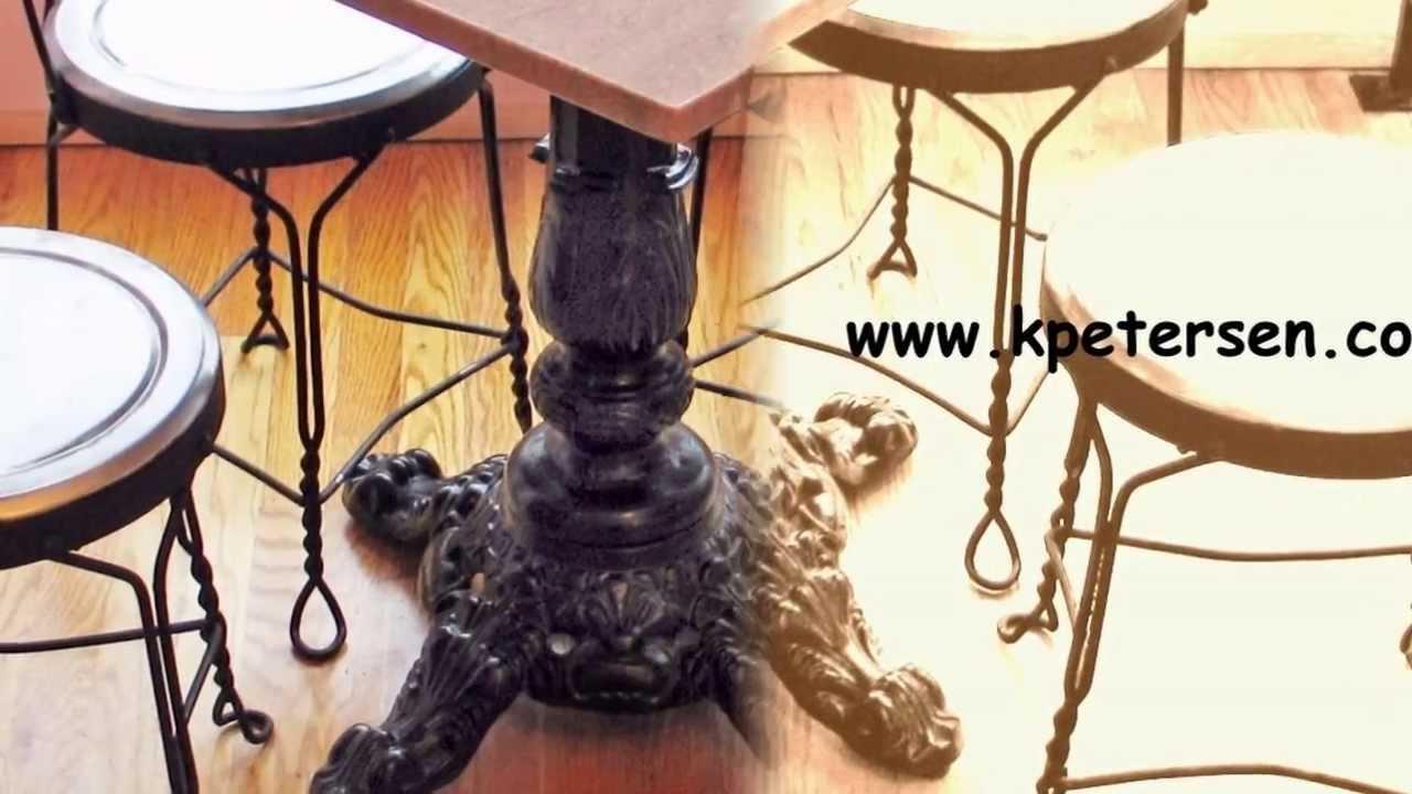 Ornate Cast Iron Restaurant Table Bases YouTube - Cast iron restaurant table bases