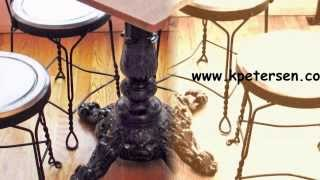 Ornate Cast Iron Restaurant Table Bases