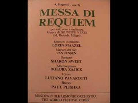 Luciano Pavarotti - Verdi - Messa da Requiem - Verona - 1990