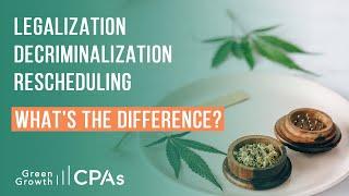 Cannabis Legalization vs. Cannabis Decriminalization vs. Cannabis Rescheduling
