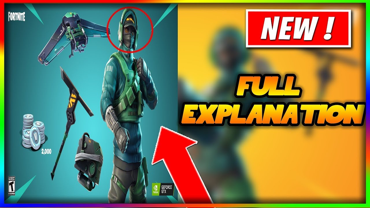 Explanation on The nvidia skin coming back to the item shop in Fortnite !  Counter Attack Bundle
