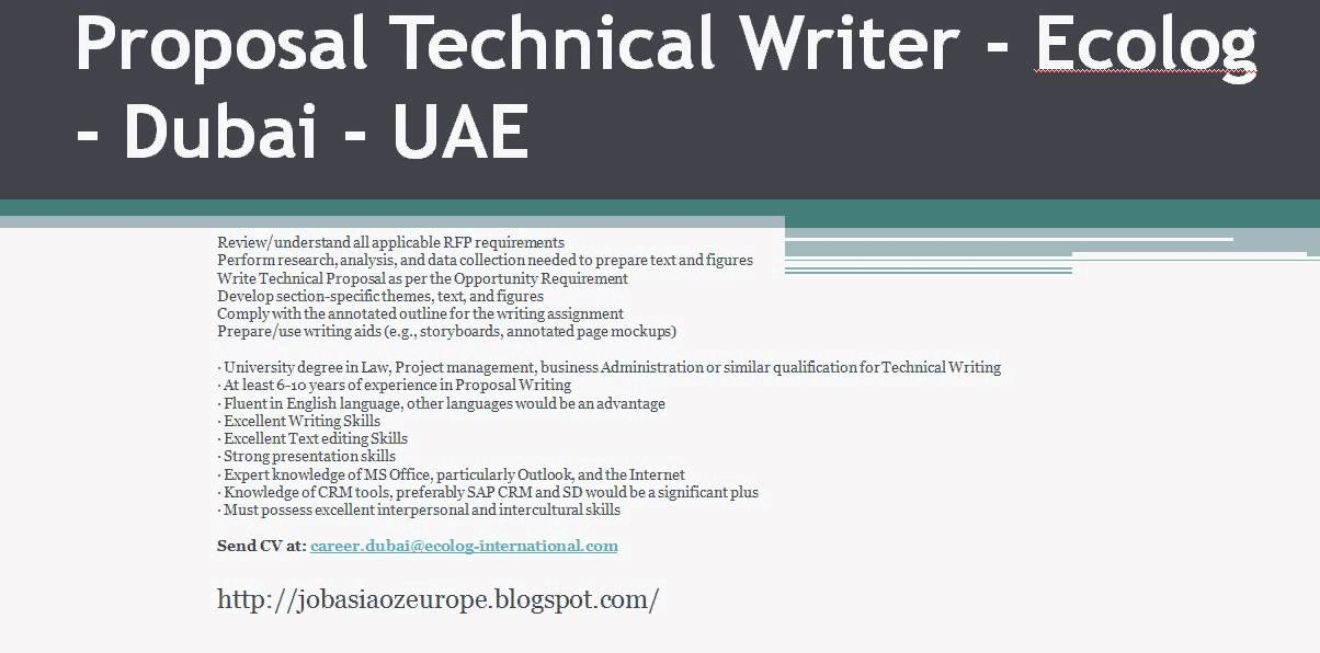 technical writing proposal assignment
