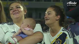 LA Galaxy and Alaska Airlines reunite military family in emotional surprise at Fourth of July game