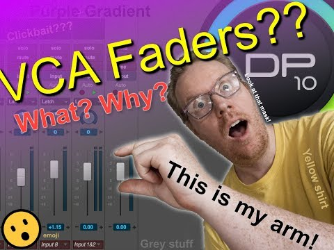 Digital Performer 10 - What are VCAs and why you should use them. DONE QUICK!