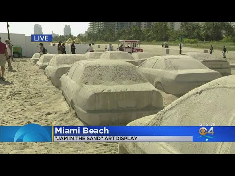 The JV Show - Artist Creates Traffic Jam Out Of Sand!