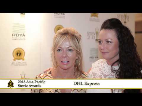 DHL Express share a few words at the 2015  Asia Pacific Stevie Awards.