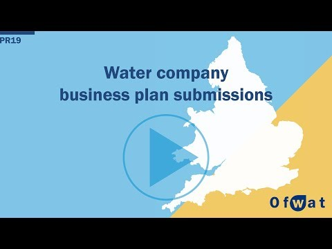 Water company business plan submissions