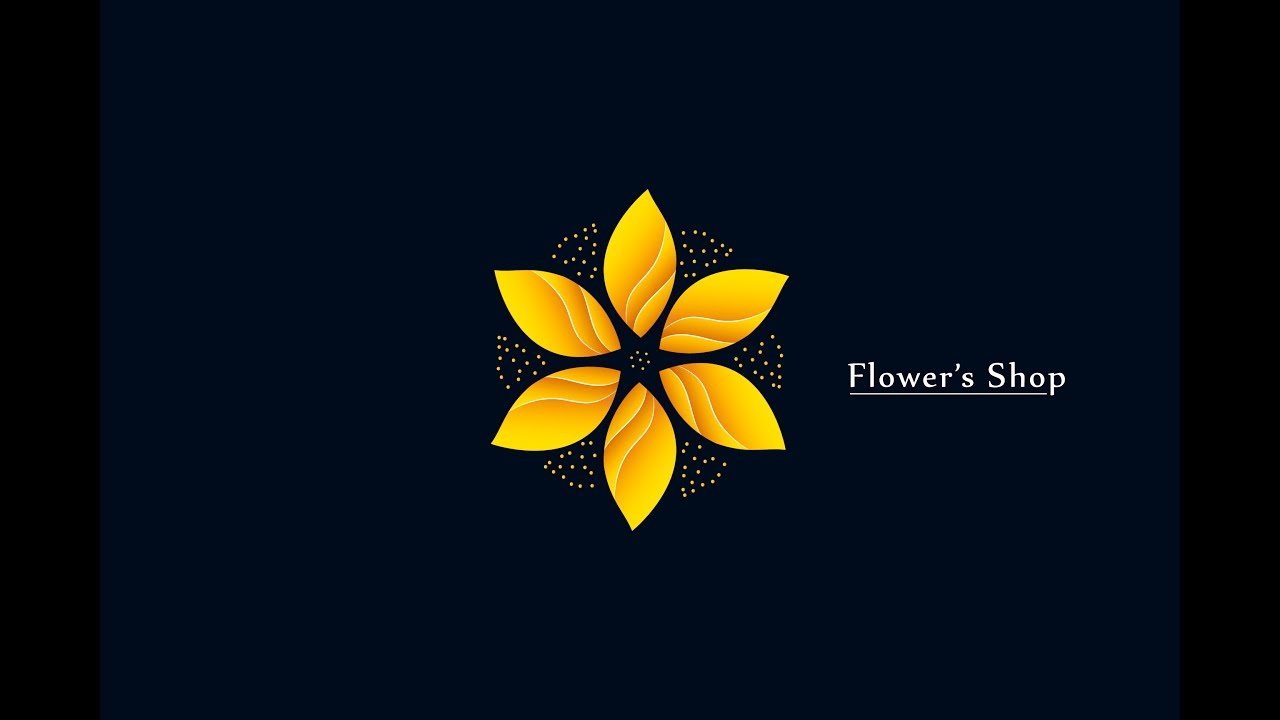 Golden Flower - Floral Design in Adobe Illustrator ( Gold ...