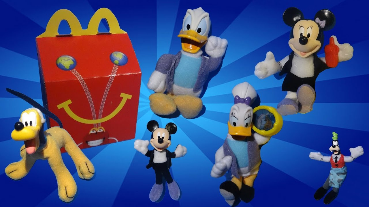 2001 McDonald/'s Complete Set of 6 House of Mouse Happy Meal Toys