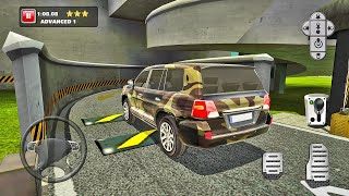 Army Land Cruiser & Coupe Driving - Multi Level Car Parking - Android Gameplay