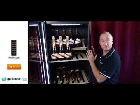 Expert description of the V190SG2EBK 170 bottle Vintec wine storage cabinet - Appliances Online