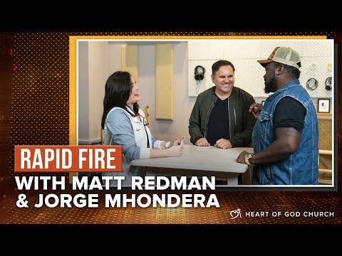 Rapid Fire with Matt Redman, Jorge Mhondera & Pastor Cecilia Chan (Pastor Lia)
