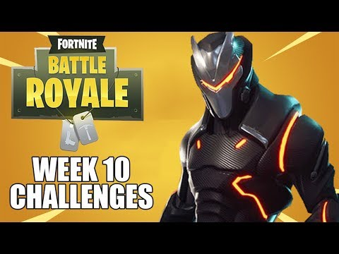 Week 10 Challenges - Fortnite Battle Royale Gameplay - Season 4 - Xbox One X