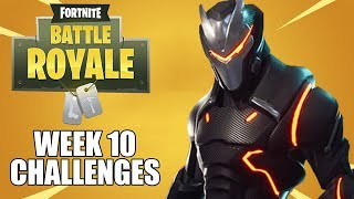 Week 10 Challenges - Fortnite Battle Royale Gameplay - Season 4 - Xbox One X