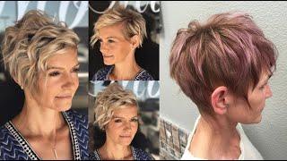 Стрижки пикси 2019 для женщин 50 60 лет Модные женские прически 50 на короткие волосы