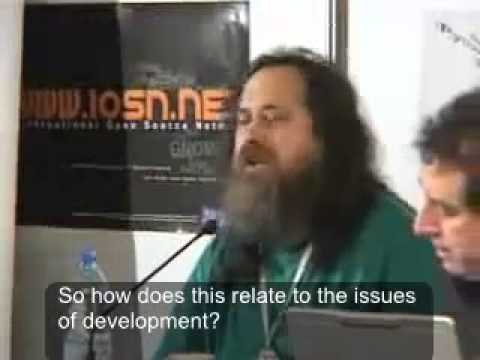 richard stallman about open source software