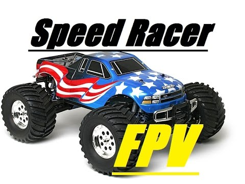Need For Speed FAST RC Car FPV Racing w Brushless Motor RC18MT 18T Truck w  GOPRO Remote Control Race