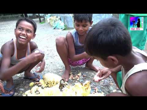 কাঁঠাল খাওয়া প্রতিযোগীতা | Katal Khaoya Protijogita | Village Boys Eating Fruit