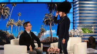 Sean Hayes Gives Ellen a Belated Birthday Gift