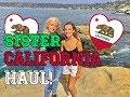 TRY ON CALIFORNIA Haul! ft. MY SISTER!!