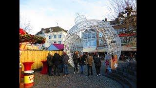 Een winterparadijs in Maastricht.  Nederland .