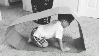 Toddler pretends to be a hamster