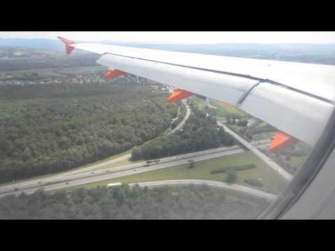 EasyJet A320 Landing EuroAirport Basel Mulhouse Freiburg LFSB