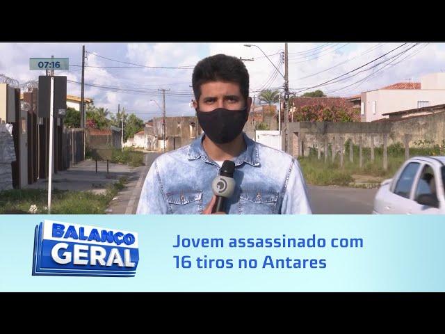 Madrugada violenta: Jovem assassinado com 16 tiros no Antares