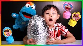 파랑이 응가? 서프라이즈 에그 콩순이 칭찬도장 장난감 놀이 LimeTube & Toy 라임튜브 puppet show