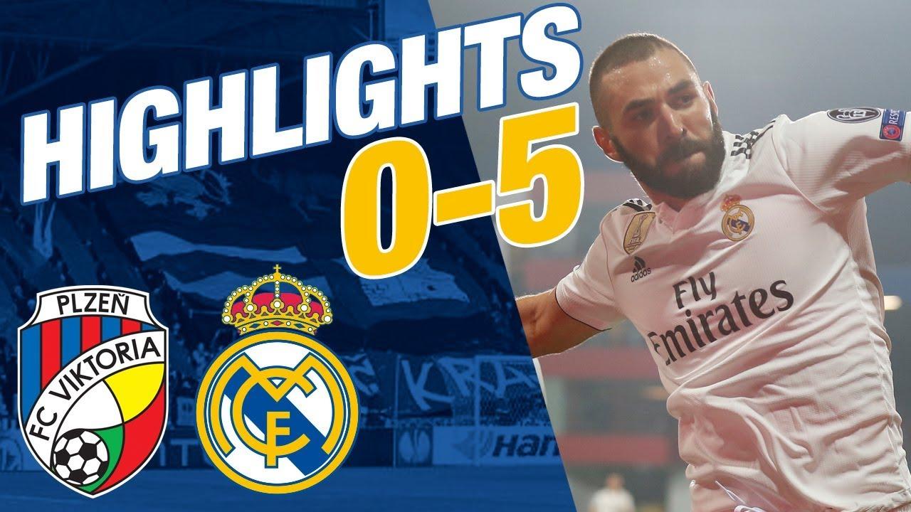Viktoria Plzen Vs Real Madrid   All Goals Highlights