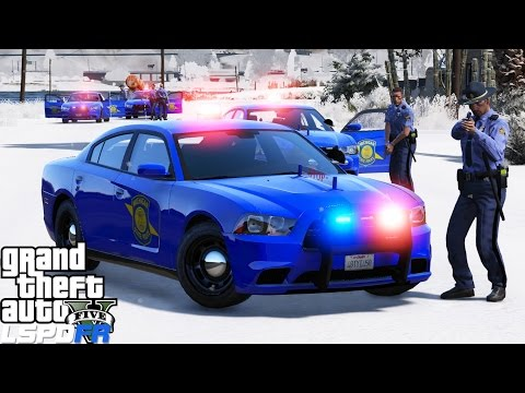 GTA 5 LSPDFR Police Mod 352 | Michigan State Police Snow Patrol | Successful Meth Lab Take Down