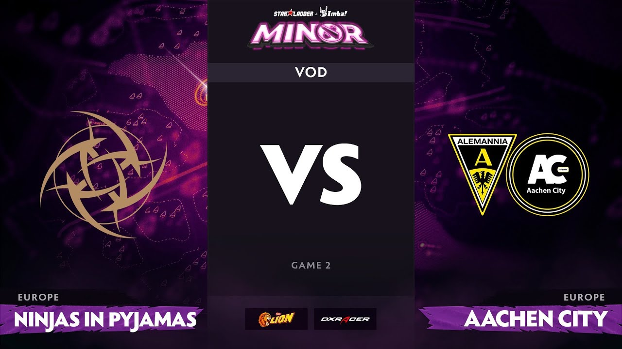 [RU] Ninjas in Pyjamas vs Aachen City Esports, Game 2, StarLadder ImbaTV Minor S2 EU Qualifiers
