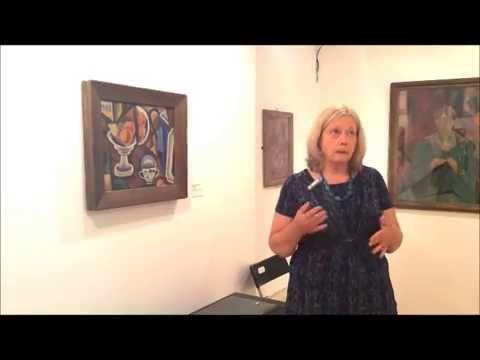 Cubist Max Weber's Still-Life  & Portrait Painting at Ben Uri Exhibition