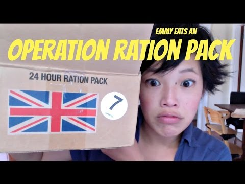 British Army Operation Ration Pack ORP - tasting a rat pack MRE