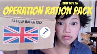 Emmy Eats a British Army Operation Ration Pack, ORP