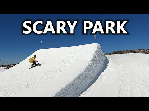 Scary Park Day Snowboarding In Australia