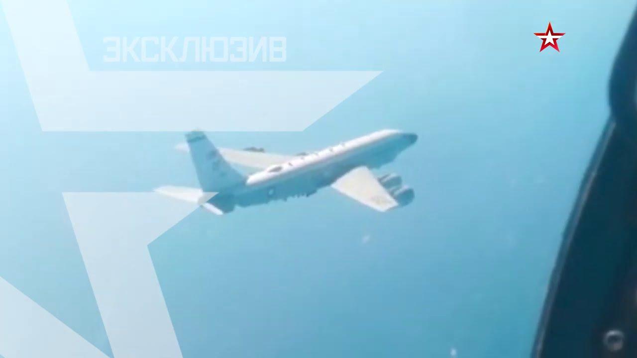 Перехват патрульного самолета ВМС США над Чёрным морем: Кадры из кабины Су-27