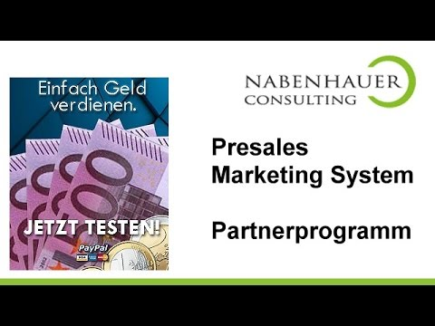 Partnerprogramm Presales Marketing System - Verdienst - Werbemittel - Landingpages - Anmeldung