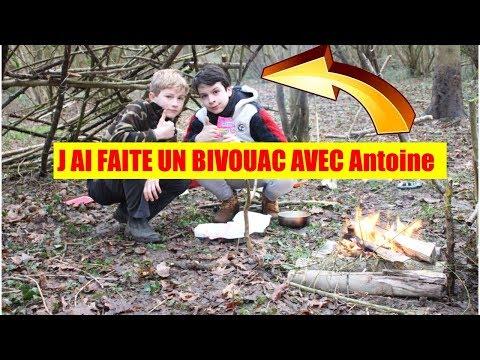 J AI FAIT UN BIVOUAC AVEC ANTOINE (SURVIE EN NATURE)