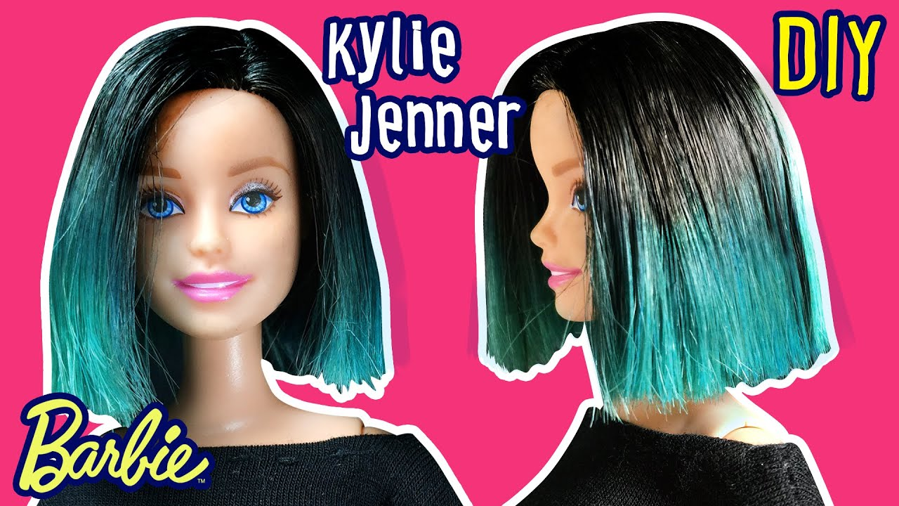Cute hairstyles for barbie dolls - Kylie Jenner Hair For Barbie Doll Barbie Haircut Tutorial Diy Making Kids Toys Youtube
