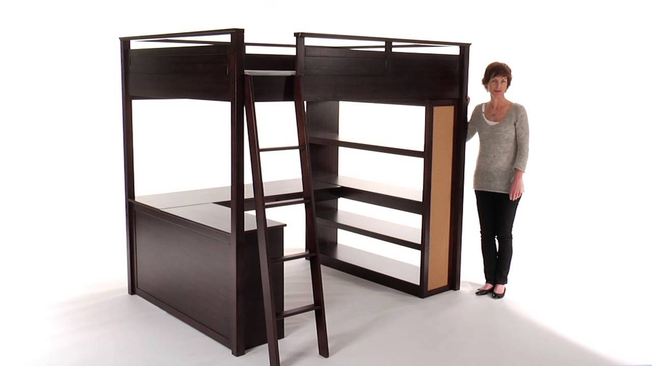 Choose teen loft beds for space saving room decor pbteen - Bed frames for small rooms ...