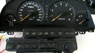 Пересвет панели приборов и блока климата Toyota Mark II. LED подсветка