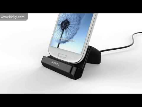 KiDiGI Universal Vertical USB Desktop Charger Dock Cradle for Samsung  LG Android smartphones