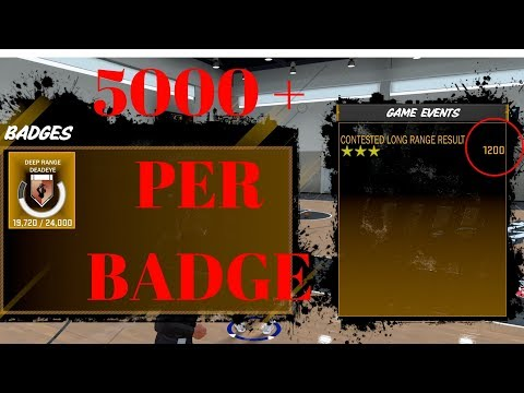 NBA 2K18 HOW TO UNLOCK ALL BADGES FAST 5000 POINTS OR MORE PER BADGE