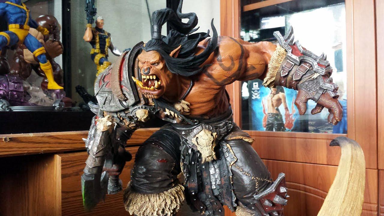 Grommash Hellscream statue - YouTube