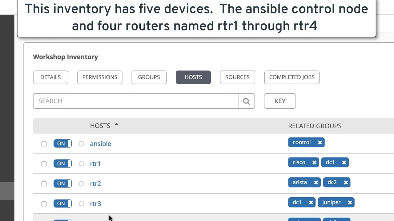 Workshop: Red Hat Ansible Tower Inventory Overview